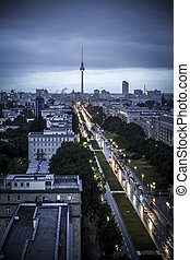 Evening at the Alexanderplatz in Berlin