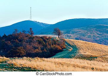 Evening autumn mountain landscape