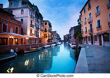 Evening canal in Venice