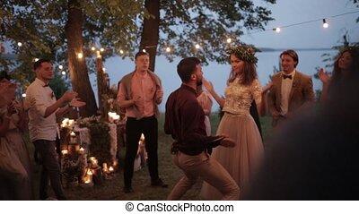 Evening celebration wedding nature