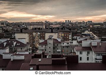 evening cityscape of Anapa, Russia