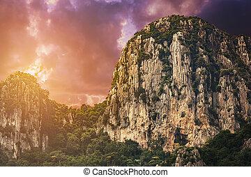 evening cliff