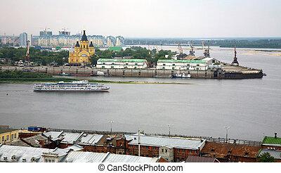 Evening cruise on the river in Nizhny Novgorod