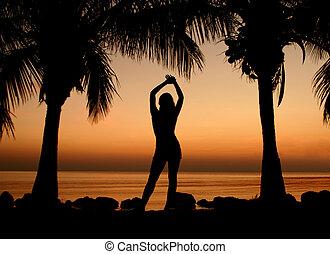 Taken on Sombrero Beach in the Florida Keys. Main subject is my wife.