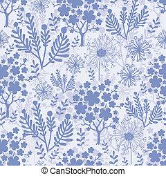 Evening garden seamless pattern background