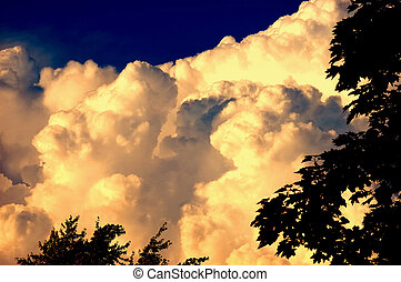 Evening Glow Thunder Storm