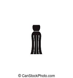 Evening gown black vector concept icon. Evening gown flat...