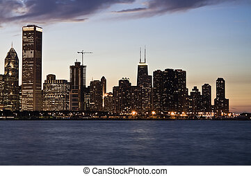 Evening in Chicago