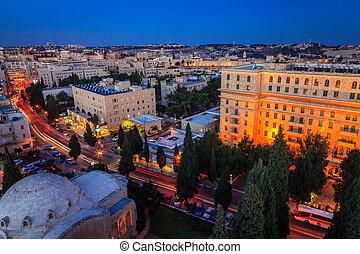 Evening in Jerusalem - View of Jerusalem from YMCA ...