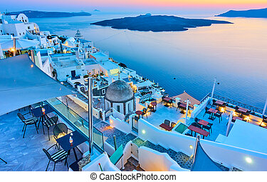 Evening in Santorini