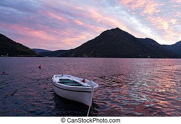 Evening in the Bay of Kotor, Montenegro
