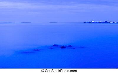 Evening lake background