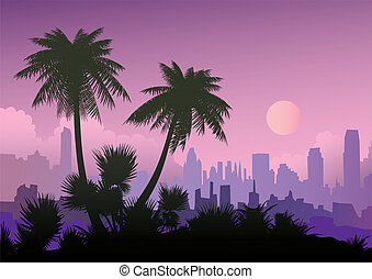 Evening landscape.