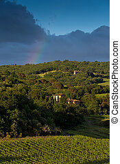 Evening landscape. Tuscany, Italy