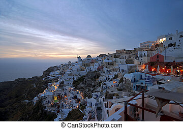 Evening light in Santorini