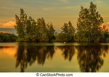 Evening - Lithuanian beauty of nature in different seasons