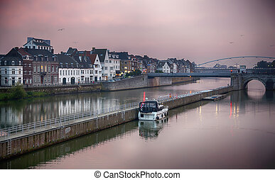 evening Maastricht - panorama of city Maastricht by evening...
