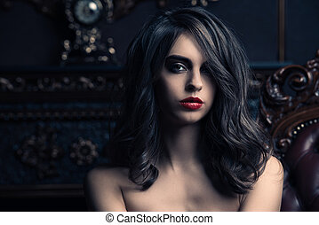 evening makeup and hairstyle