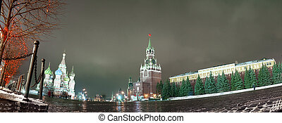 Evening Moscow - The red area in Moscow