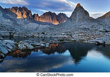 Evening Mountain Lake Reflection