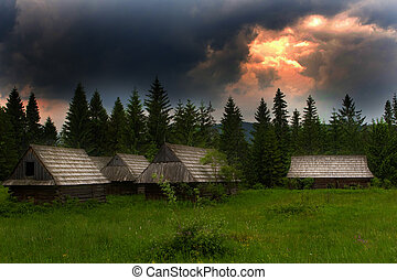 Evening Mountain Vie