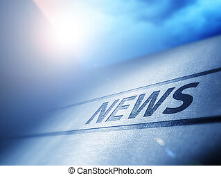 Evening News - News underneath bluish evening sun with...