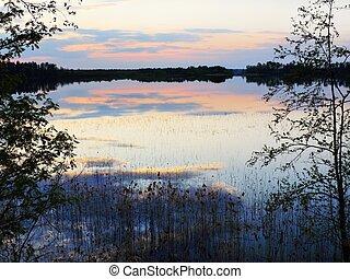 evening on spring lake