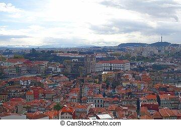 Evening over the city of Porto