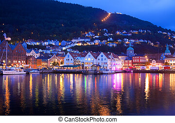 Evening panorama of Bergen