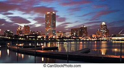 Evening Panorama of Milwaukee, Wisconsin