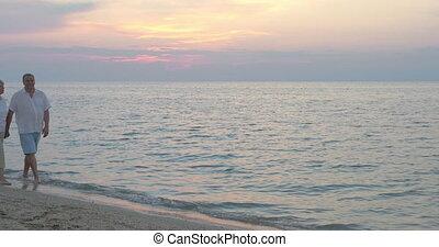 Evening promenade at the seaside