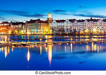 Evening scenery of Helsinki, Finland - Scenic evening...