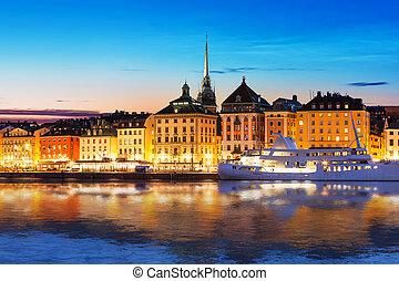 Evening scenery of Stockholm, Sweden - Scenic summer evening...