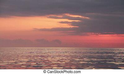 Evening Sea after Sunset. Seashore, calm. Full HD 1920 x...