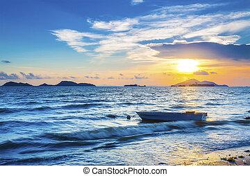 Evening sea coast