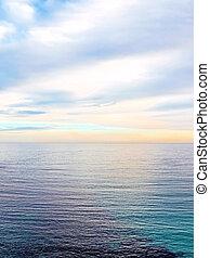 Evening sea scene
