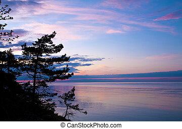 evening seascape