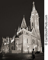 Matthias Church, Budapest - Evening shot of the Matthias...