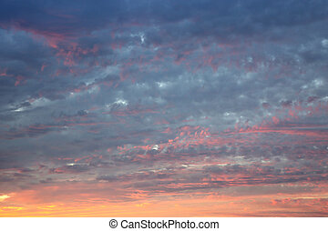 Evening sky abstract background