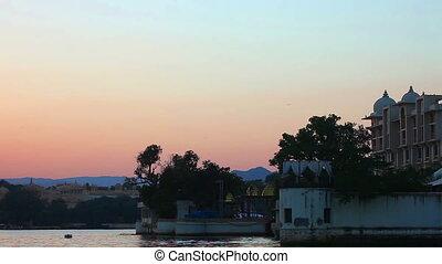 Evening sky - View fo evening sky, Udaipur, India