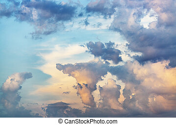 Evening sky with storm clouds