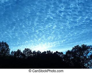 skyline - Evening skyline with clouds