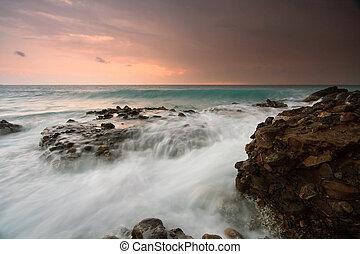 Evening storm in Crete, Greece.