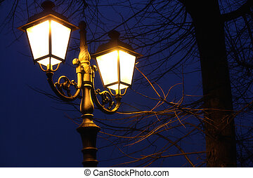 Evening streetlight