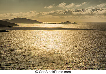 Evening sun over Ile Rousse in Corsica