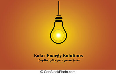 evening sun sunset solar energy light bulb idea solution concept. bright & glowing Morning sun with lightbulb silhouette using sunlight to glow