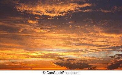 Evening sunset view of beautiful sky