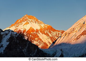 Evening sunset view of Mount Changtse
