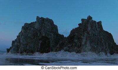 Evening Timelapse on Baikal Lake - Evening on Shamanka Rock...