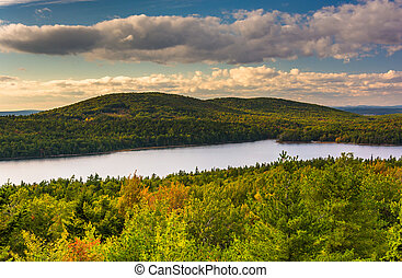 Evening view of Eagle Lake from the road to Caddilac...